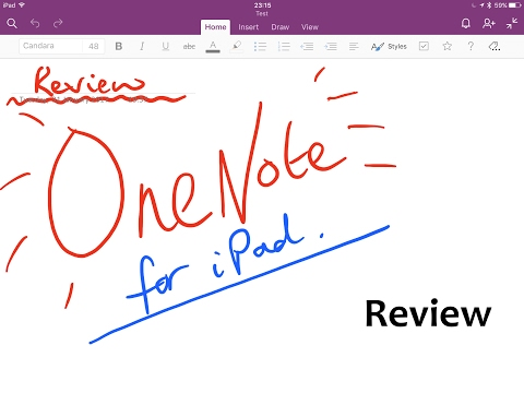 OneNote - one of the best note taking apps for iPad - review.