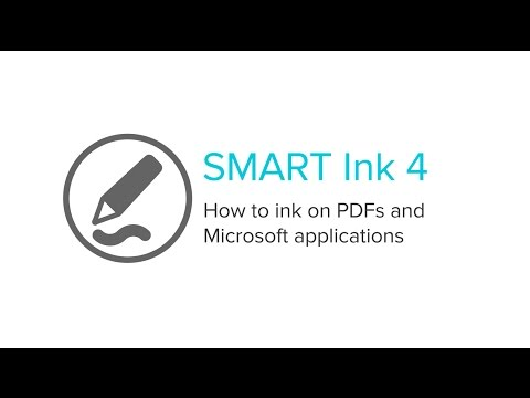 SMART Ink 4 - How to ink on PDFs and Microsoft applications