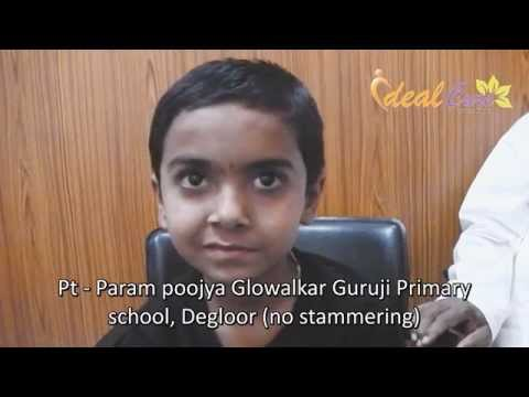 Stammering in a child cured with homeopathy at Dr Amol Ravande's Ideal Cure Homeo Clinic