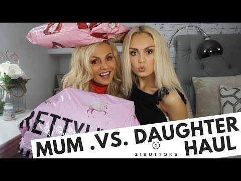 Missguided Haul & Pretty Little Thing - TRY ON- Mother & Daughter challenge - 21 BUTTONS -