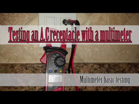 How to use a multimeter to test an AC outlet - basic multimeter testing