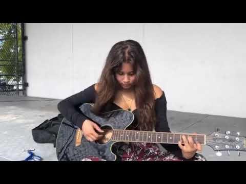 Agatha - Playing guitar - Dec 2018