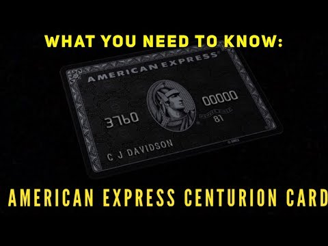 Do You Want The Amex Centurion Card? Here's What You Need To Know!