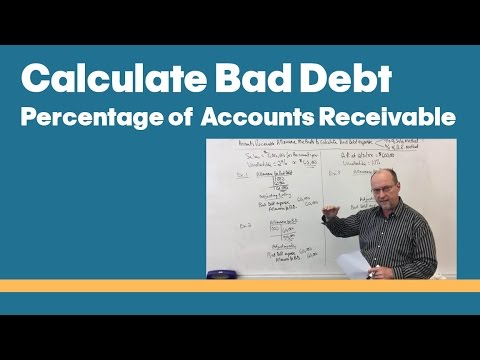 08 - Calculate Bad Debt Expense - Percentage of Accounts Receivable Method