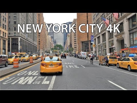 Driving Downtown - NYC's Park Avenue 4K - New York City USA