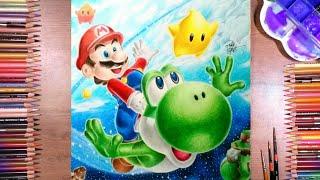 Como Desenhar Mario E Yoshi Super Mario Galaxy 2 Desenho Gamer