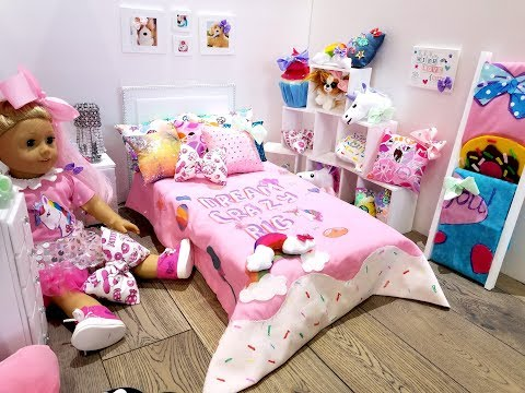 JOJO SIWA~AMERICAN GIRL DOLL BEDROOM SET UP (NEW ROOM TOUR)