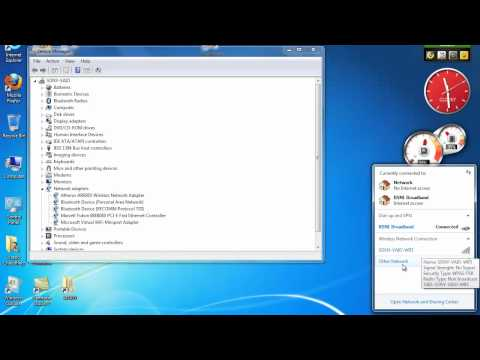 How to turn on or turn off wifi and bluetooth in Windows 7 and Vista