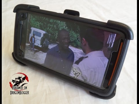 Otterbox Defender's Kick Stand for watching movies and shows like AMC's Walking Dead