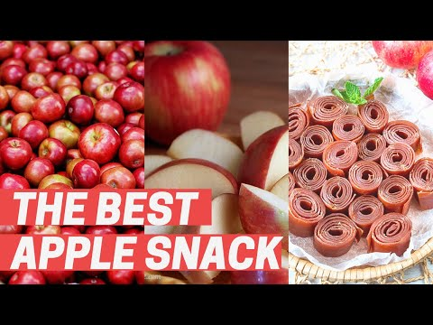 How to make Snacks for KIDS and ADULTS (Apple Fruit Leather) [AWESOME]