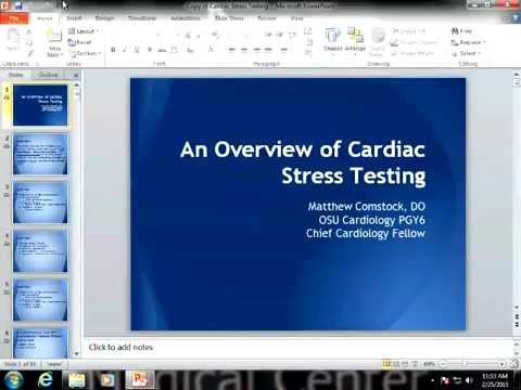 Overview Of Cardiac Stress Testing