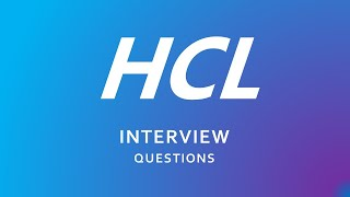HCL Interview Questions for freshers   HCL   Technical   HR  