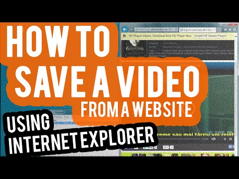 How to Save a Video from a Website (IE)