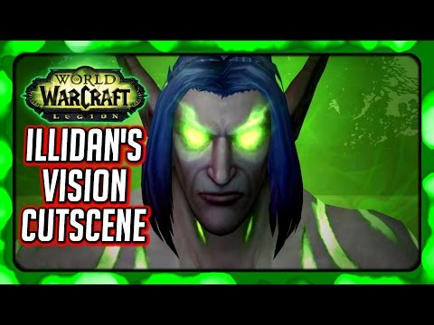 WOW Legion 🌟 How Illidan Got His Eyes From Sargeras (Memory Cutscene)