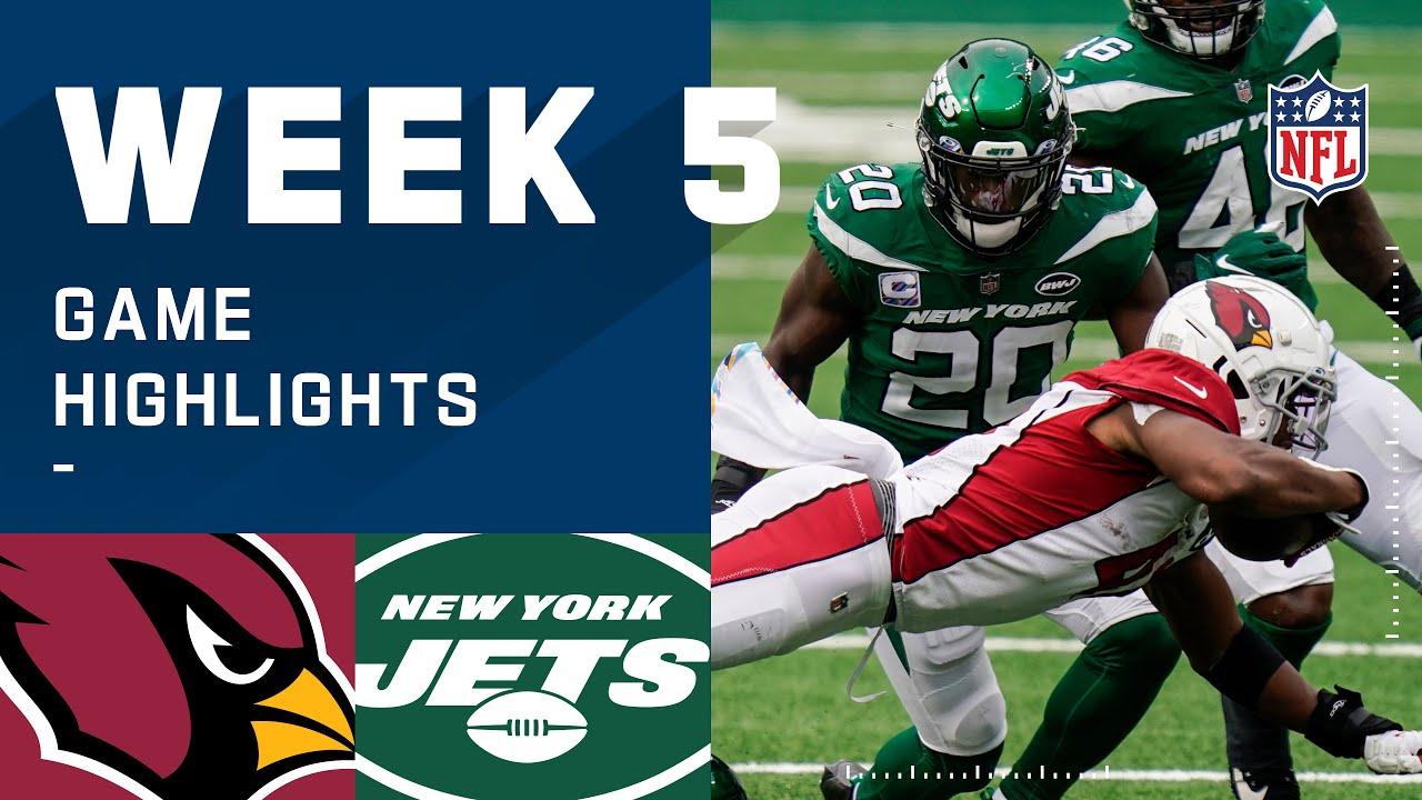 Cardinals vs. Jets Week 5 Highlights | NFL 2020