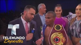 "Jonathan ""Bomba"" González habla con Telemundo | Boxeo Telemundo | Telemundo Deportes"