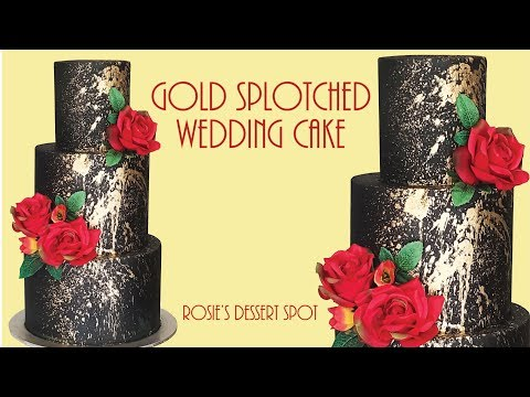 Easiest Ever 3 tier Black and Gold Cake- Rosie's Dessert Spot