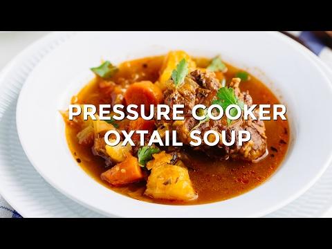 How To Make Pressure Cooker Oxtail Soup (Recipe) オックステールスープの作り方 (圧力鍋) (レシピ)