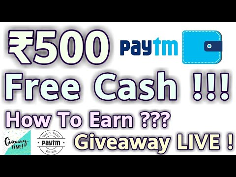 Earn ₹500 Paytm Cash For Free [Giveaway]💓