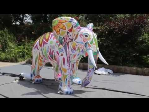 inflatable elephant costume mascots