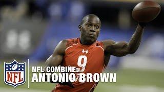 Antonio Brown (WR, Central Michigan)   2010 NFL Combine Highlights