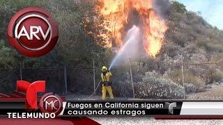 Batallan contra el fuego en California   Al Rojo Vivo   Telemundo