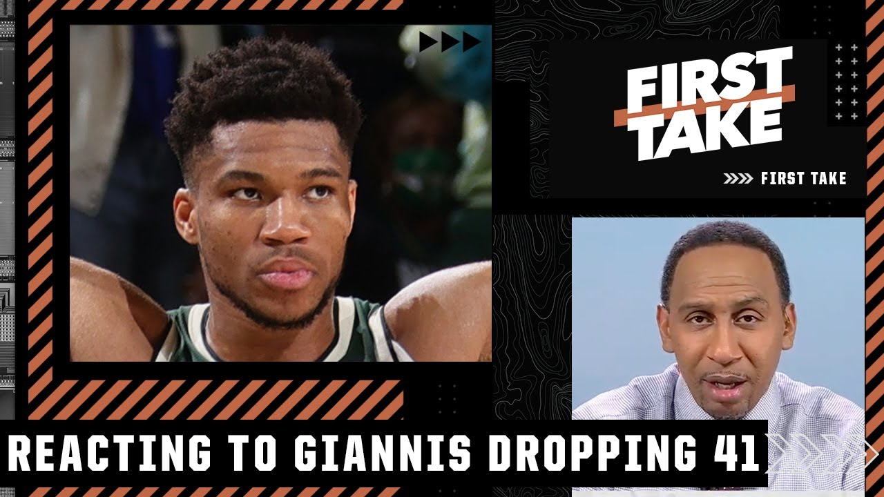 Stephen A. reacts to Giannis dropping 41 in the Bucks' Game 3 win over the Suns | First Take