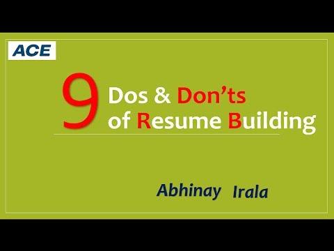 Do's and Don'ts of Resume Writing for Fresh Engineering Graduates