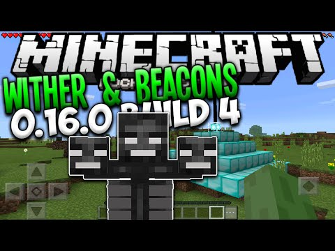MINECRAFT PE 0.16.0 - WITHER BOSS & BEACONS IN MCPE 0.16.0 ALPHA BUILD 4 (Pocket Edition)