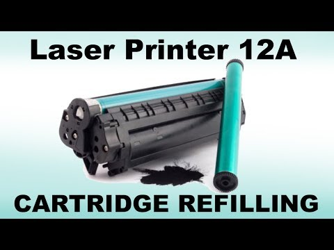 laser printer 12A cartridge refilling