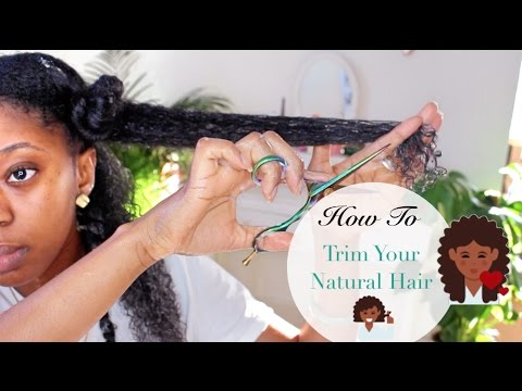 How I Trim My Natural Hair 💇🏾💇🏾| Reduce Shedding & Tangling #CurlyGirlMethod