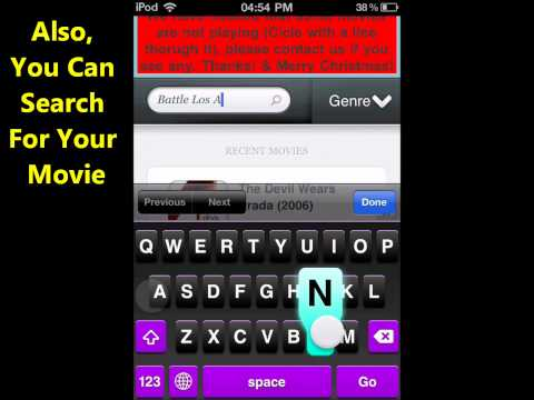 Stream HD Movies On Your Ipod **FREE!**(iMovies)