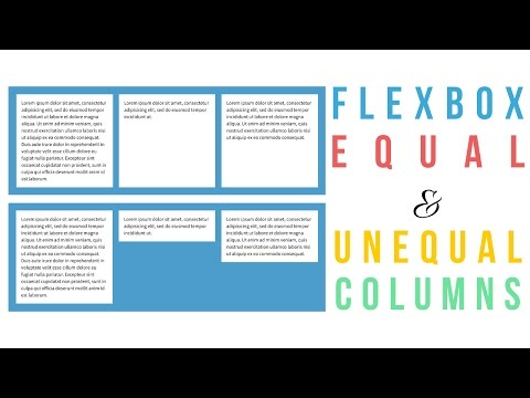 Flexbox Equal and Unequal Columns