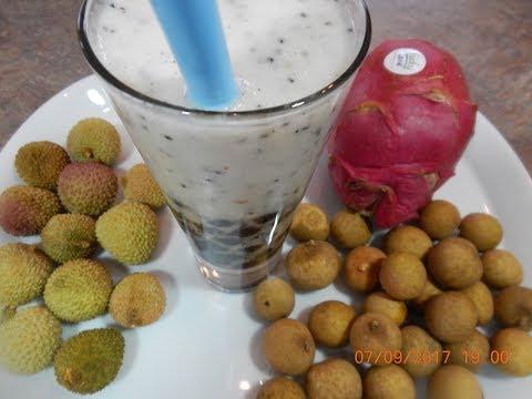 Mixed Fruit Milkshake with Boba Recipe