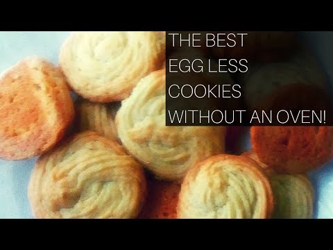 EGGLESS COOKIES WITHOUT AN OVEN!!!