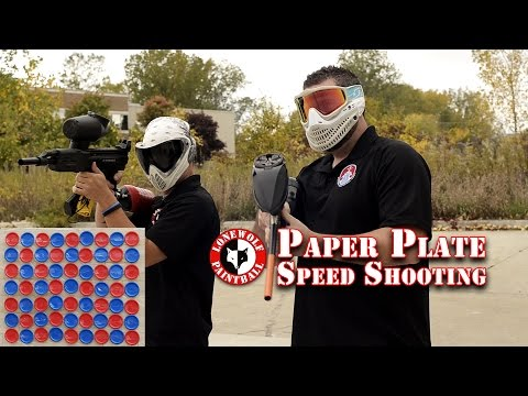 Paper Plate Speed Challenge Loser Eats Baby Food Lone Wolf Paintball Michigan