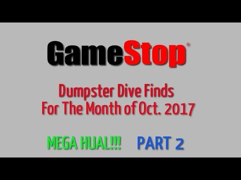 GameStop Dumpster Dive Oct. 2017 - Part 2 - Finds for the month