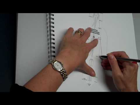 How to draw a fashion drawing figure using the Easy Draw Rulers
