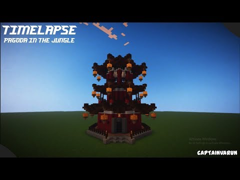 Minecraft Timelapse   Pagoda in the Jungle