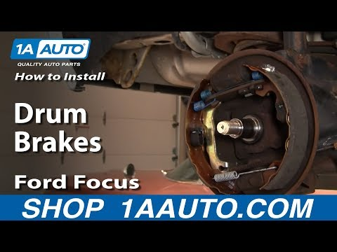 How To Install Replace Rear Drum Brakes Ford Focus 00-11 1AAuto.com