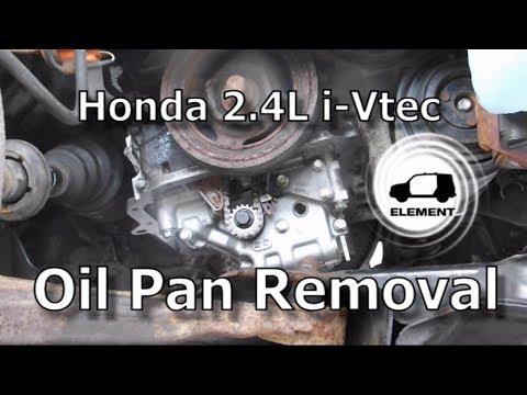 Honda 2.4 Liter V-TEC Engine Part 1: Oil Pan Removal