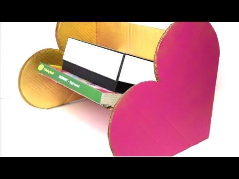 {DIY} Heart Storage 📦 Recycle Cardboard