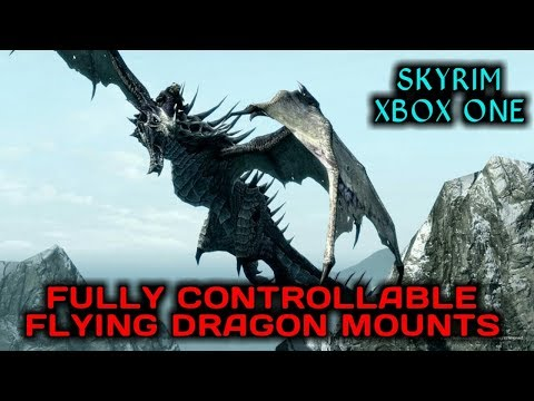 SKYRIM SE - Fully Controllable Flying Dragon Mounts MOD [XB1]