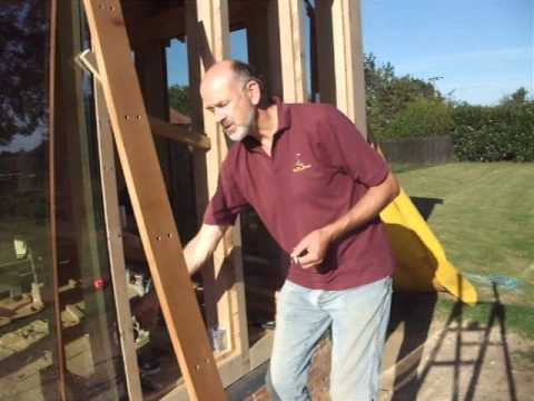 Glazing an Oak frame using the surface glazing method