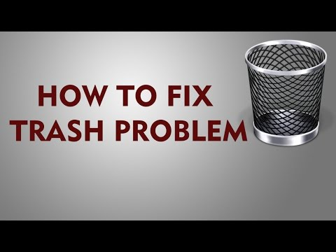 How to fix problem when the Trash won't empty Mac OS X