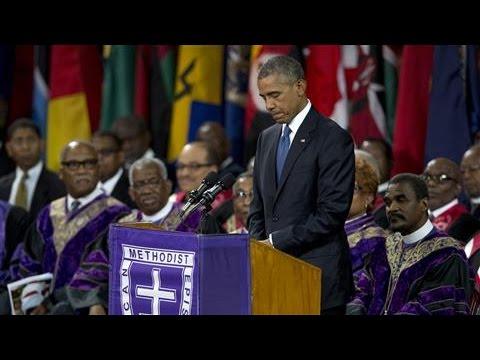 Obama Delivers Eulogy at Funeral of Rev. Pinckney