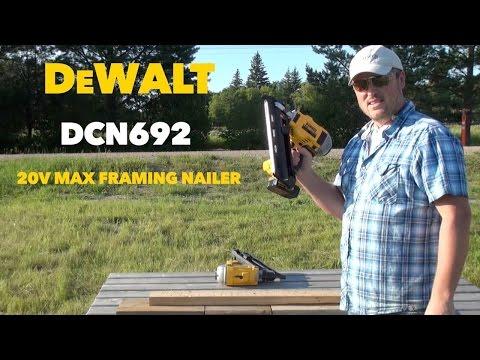 DeWalt DCN692 20 Volt Max Dual Speed Nail Gun Tool Review