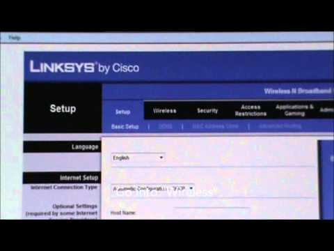 How to set a password on a Linksys router