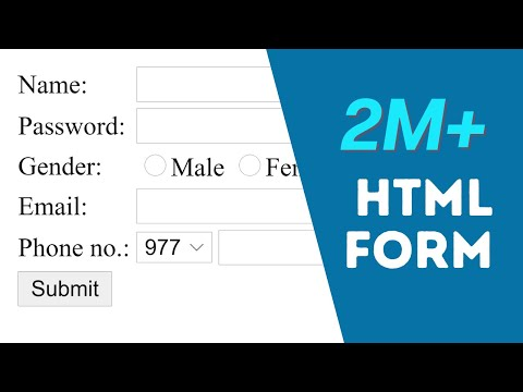 How to Create Registration Form in HTML - Easy - 2017