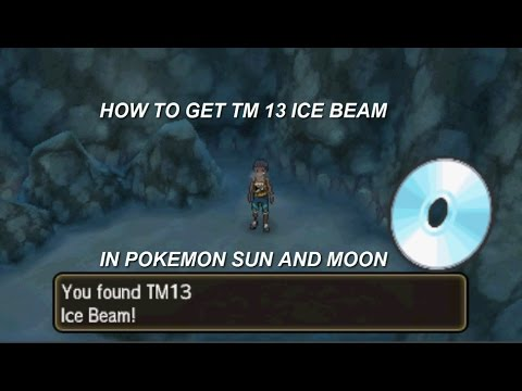 How to get TM 13 Ice beam in Pokemon Sun and Moon